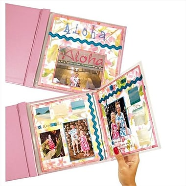 C-line Products MINI Memory Book FoldOut Panoramic Scrapbook Page Protector Top loading Clear 8 x 8 6-PK - Set of 6 PK (ClNP015)