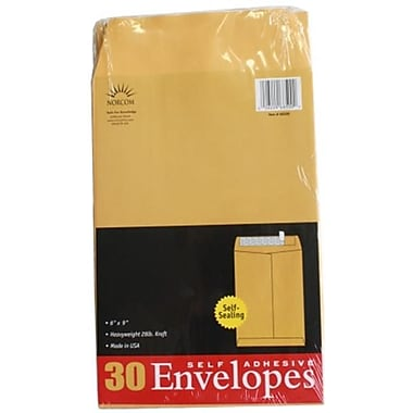 Norcom Inc 6 in. x 9 in. 28No. Kraft Envelopes 30 Count Pack Of 6 (JNSN71203)