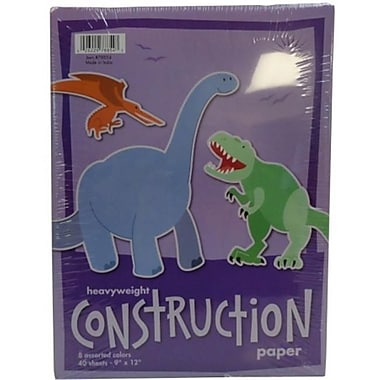 Norcom Inc 9 in. x 12 in. Construction Paper Assorted Colors 40 Count Pack Of 12 (JNSN71393)