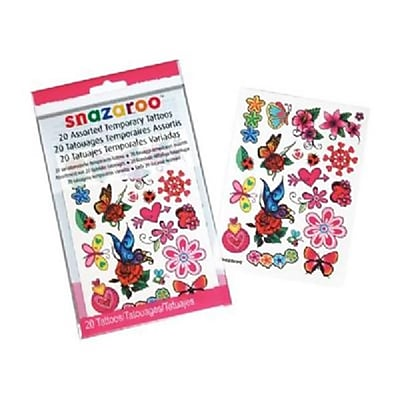 ColArt Flower and Butterfly Themed Temporary Tattoos (AlV25259)