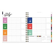 """July 2019 - June 2020 TF Publishing 8.25"""" x 9"""" Preppy Daily Weekly Monthly Luxe Planner, Stripe Best Life (20-5213a)"""