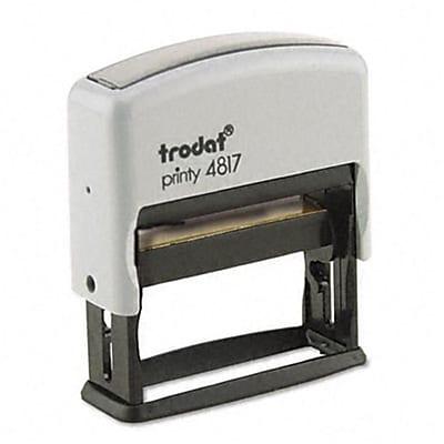 Trodat Economy 12-Message Stamp, Dater, Self-Inking, 2 x 3/8, Black
