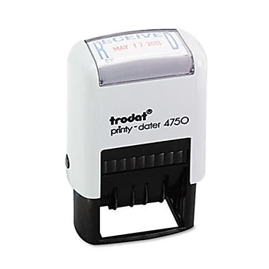 Us Stamp Trodat Economy Stamp Dater Self-Inking 1 5/8 x 1 Blue/Red (AZUSSE4752)