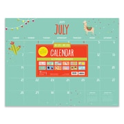 "July 2019 - June 2020 TF Publishing 22"" x 17"" Large Desk Pad Monthly Calendar, Monthly Theme  (20-8024a)"