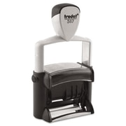 US Stamp trodat Professional 12-Message Stamp Dater Self-Inking Black (AZRUSST5117)