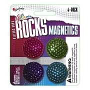 Inkology Inc Glam Rock Plastic Magnets - Button - Pack of 6 (INKlGR139)