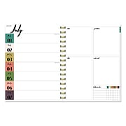 """July 2019 - June 2020 TF Publishing 6.5"""" x 8"""" Medium Daily Weekly Monthly Planner, Marble (20-9241a)"""