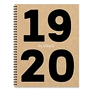"""July 2019 - June 2020 TF Publishing 9"""" x 11"""" Large Daily Weekly Monthly Planner, Bold Kraft (20-9715a)"""