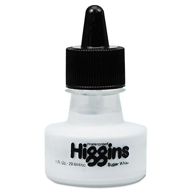 Higgins. Super White Pigmented Drawing Ink, White (AZERTY19592)