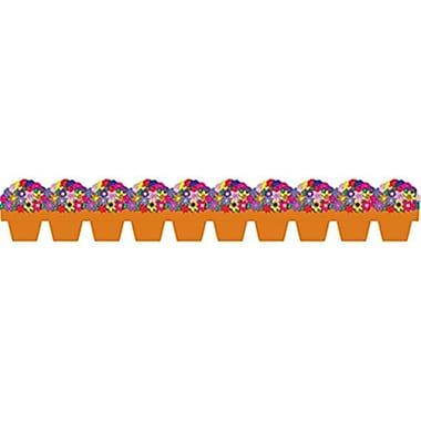 HYGlOSS PRODUCTS INC. FlOWER POT DIE CUT BORDER (EDRE45156)