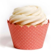 Dress My Cupcake Solid Cupcake Wrappers, Emma Coral, Pack of 48 (DMCC013)