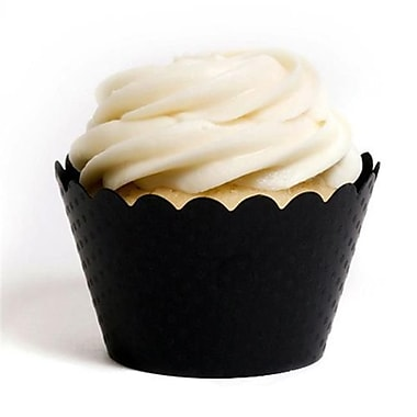 Dress My Cupcake Solid Cupcake Wrappers, Emma Black, Pack of 48 (DMCC002)