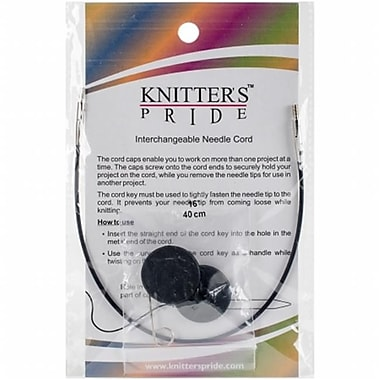 Knitters Pride Interchangeable Cords 8 in. - Black (NMG03615)