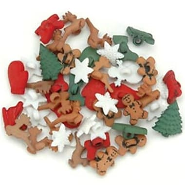 Jesse James 92876 Dress It Up Holiday Embellishments-Christmas Miniatures (NMG52482)