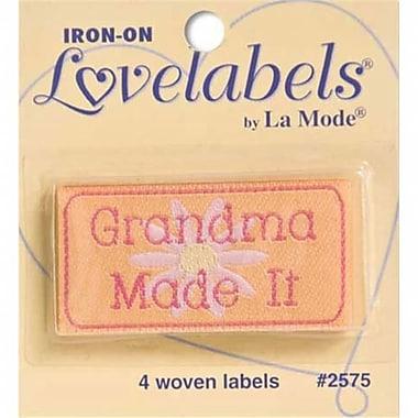 Blumenthal lansing Iron-On lovelabels 4/Pkg-Grandma Made It (NTMKGP22598)