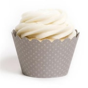 Dress My Cupcake Solid Cupcake Wrappers, Emma Gray, Pack of 48 (DMCC037)
