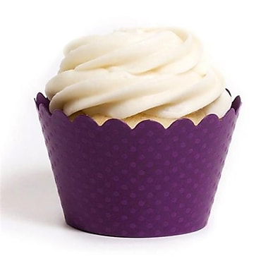 Dress My Cupcake Solid Cupcake Wrappers, Emma Royal Purple, Pack of 48 (DMCC034)