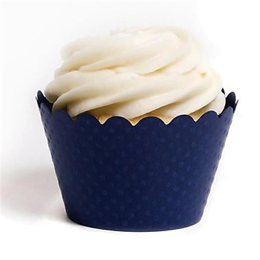 Dress My Cupcake Solid Cupcake Wrappers, Emma Navy Blue, Pack of 48 (DMCC030)