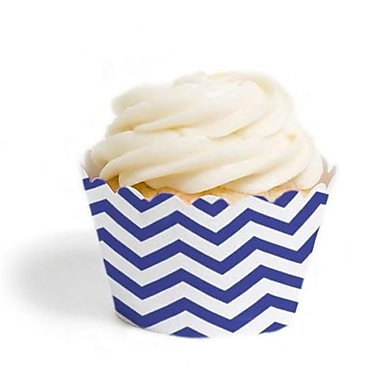 Dress My Cupcake Chevron Cupcake Wrappers, Royal Blue, Pack of 48 (DMCC079)