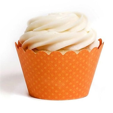 Dress My Cupcake Solid Cupcake Wrappers, Emma Orange, Pack of 48 (DMCC014)