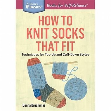 Storey Publishing - How To Knit Socks That Fit (NMG114395)