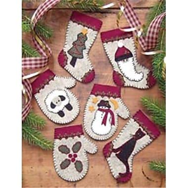 Rachels Of Greenfield 260264 Christmas Woolens Ornament Kit-Set Of Six (NMG61634)