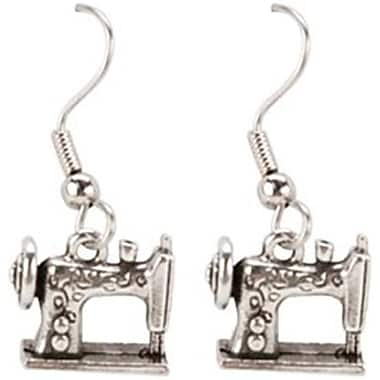 Cedar Creek Quilt Designs 85367 Charming Accents French Wire Earrings-Sewing Machine (NMG57528)