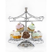 Godinger Carousel Cupcake Holder - 12 Pieces, Silver (RTl160527)