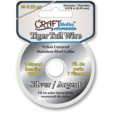 American Classics Corp 491896 Tiger Tail Beading Wire 7-Strand .45mm 39ft-Pkg-Silver (NMG47949)
