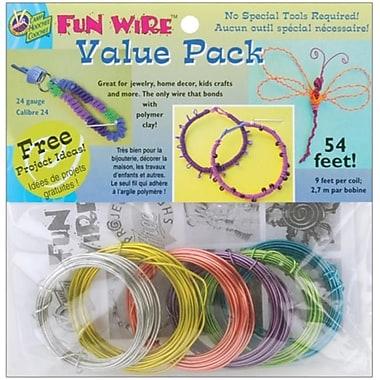 Toner Plastics Plastic Coated Fun Wire Value Pack 9 Foot Coils (NMG10127)