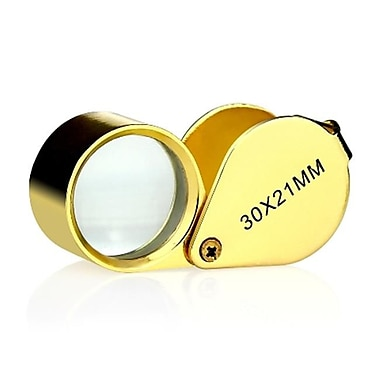 IKKEGOl 30 x 21 mm. Jewellers loupe Eye Magnifying Glass Jewelers Magnifier Golden (IKGl061)