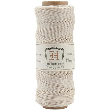 Hemptique Hemp Cord Spool 10 No. 205 Feet-Pkg-White (NTMKGP5604)