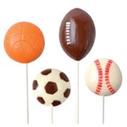 Make N Mold Sports Ball Pops Candy Mold- pack of 6 (MKNM205)