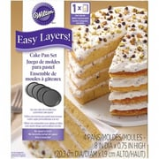 Easy layers 8 in. Round Cake Pan Set, 4 Piece (NMG115006)