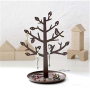 YAMAZAKI home 4.7 x 5.9 in. Jewelry Tree - Brown (YMZK203)