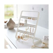 YAMAZAKI home 4.1 x 6 in. Tower Earring Stand - White (YMZK063)