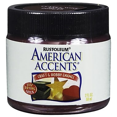 Rustoleum American Accents Claret Wine Craft andamp; Hobby Brush Enamel Paint - Pack of 6 (JNSN30978)