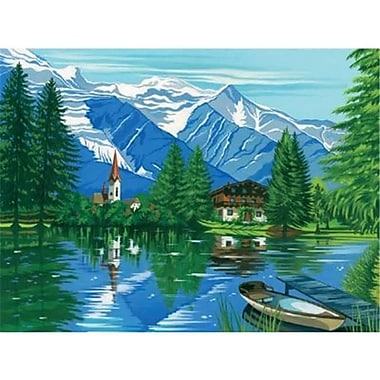 ColArt large Acrylic Painting By Numbers Set Woodland Chalet (AlV29009)