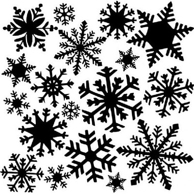 The Crafters Workshop 12 in. x 12 in. Design Template Flurries (AlV29122)