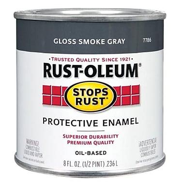 Rustoleum .50 Pint Smoke Gray Protective Enamel Oil Base Paint (JNSN15675)