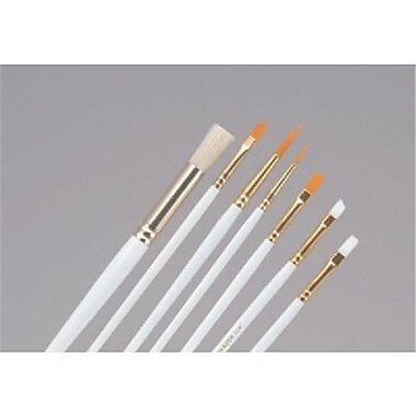 Princeton Brush White Bristle Brush Set Oil and Acrylic Round 6, Bright 8, Flat 10 (AlV26310)