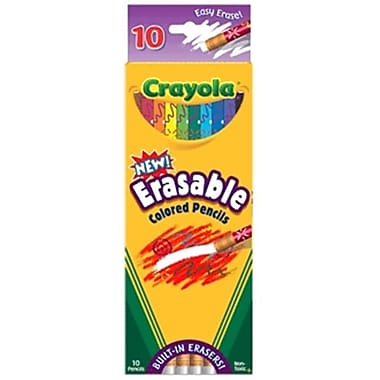 Crayola Erasable Colored Pencil Asst 10 Pk Box Pack Of 6 (DGC216)