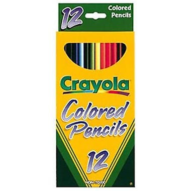 CRAYOlA llC FORMERlY BINNEY and SMITH CRAYOlA COlORED PENCIlS 12 COlOR (EDRE8646)
