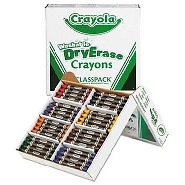 Crayola. Washable Dry Erase Crayons, Classpack, Assorted Colors, 96/Set (AZERTY18429)
