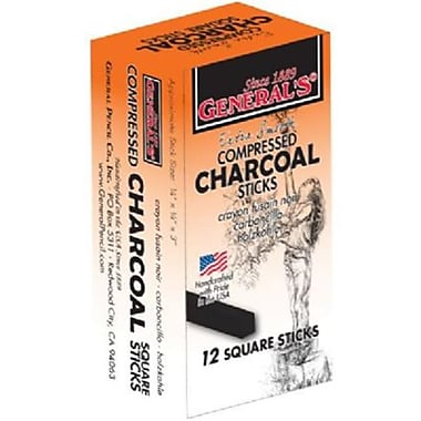 Generals Compressed Charcoal Sticks 4B (AlV18208)