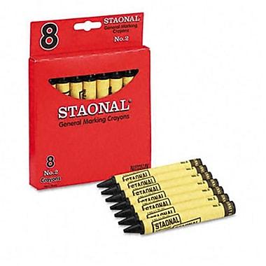 Crayola. Staonal Marking Crayons Black 8/Box (AZCYO5200023051)