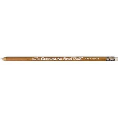 AlvinandCo Pastel Chalk White Cedar Wood Cased with Eraser (AlV4484)