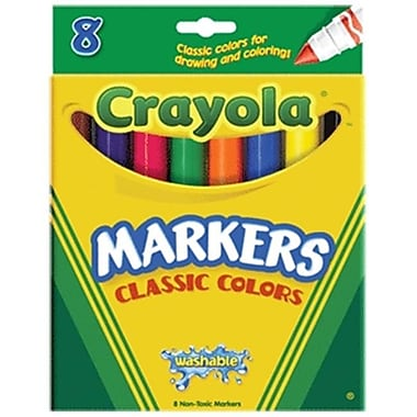 Crayola Classic Washable Markers Asst Broad 8 Pk Box Pack Of 6 (DGC212)