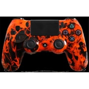 Evil Controllers Orange Fire Custom PlayStation 4 Controller (ECTR029)