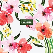 """July 2019 - June 2020 TF Publishing 12"""" x 12"""" Large Monthly Planner Best Life, Watercolor Floral (20-4599a)"""
